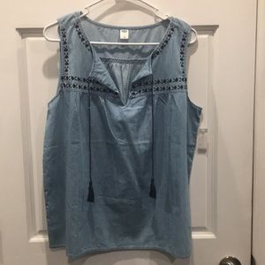 Brand New, Old Navy sleeveless blouse